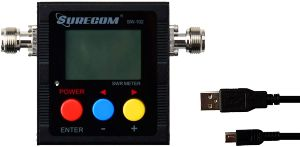 Surecom Gam3gear Sw 102s So239 Connector Digital Vhf Uhf 125 525mhz Power & Swr Meter With Ground Plate